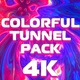 4K Colorful Tunnel Pack - VideoHive Item for Sale