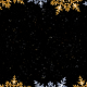 Gold and Silver Christmas sparkling frame loop - VideoHive Item for Sale