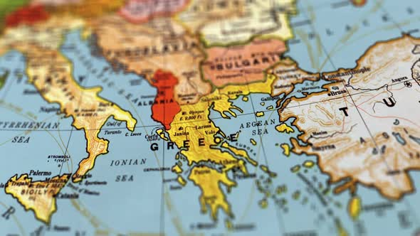 Greece world map by footagestock videohive play preview video gumiabroncs Gallery