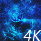 Flying Through Abstract Blue Space Tunnel to  Bright Planet with Asteroids - VideoHive Item for Sale
