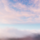 Flying Through White Pink Clouds In Blue Sky - VideoHive Item for Sale