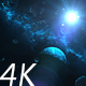 Flying Through Asteroids and Blue Planet to Space Nebula and Star - VideoHive Item for Sale