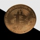 Bitcoin Turns Vertically (Alpha Channel) - VideoHive Item for Sale