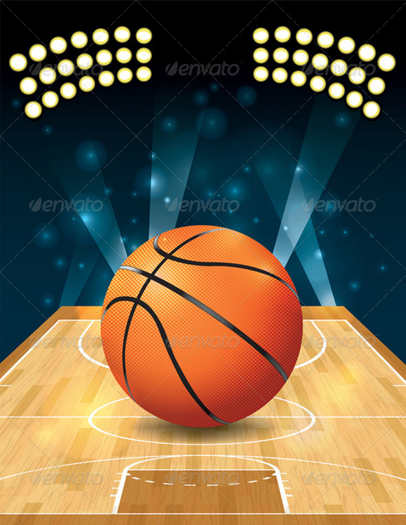 Vector Basketball Court by enterlinedesign | GraphicRiver