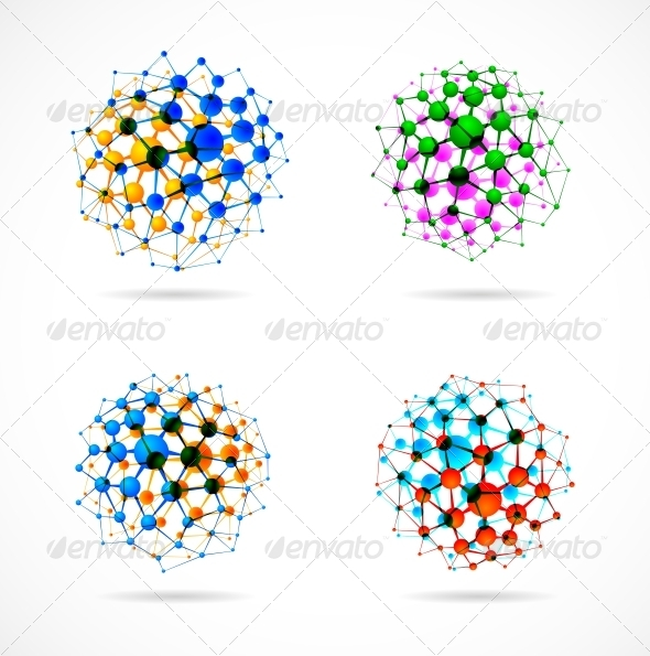 Chemical Spheres - Health/Medicine Conceptual