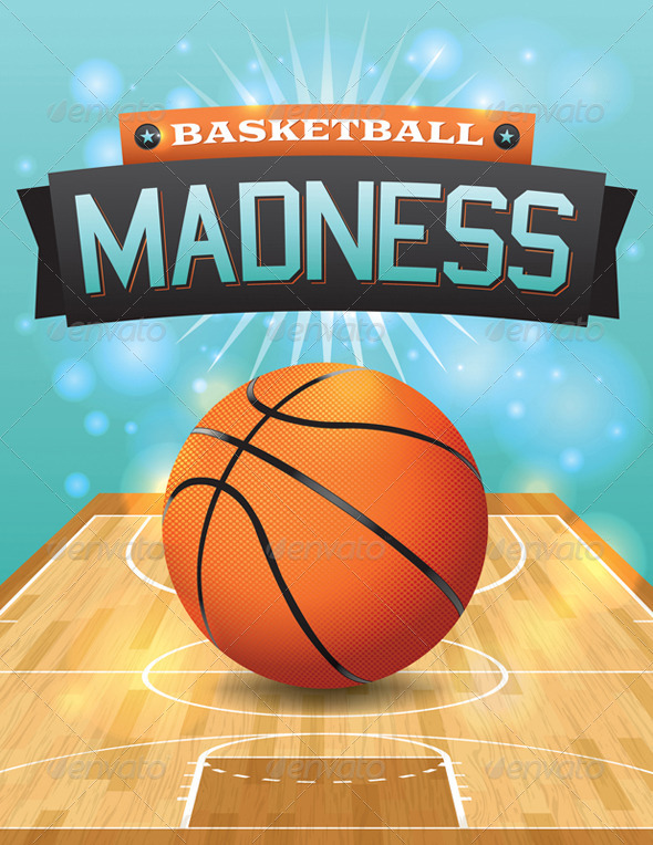 Vector Basketball Flyer by enterlinedesign | GraphicRiver
