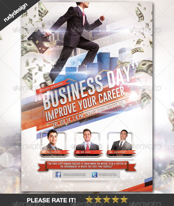 Business Career Day Template Design - Corporate Flyers