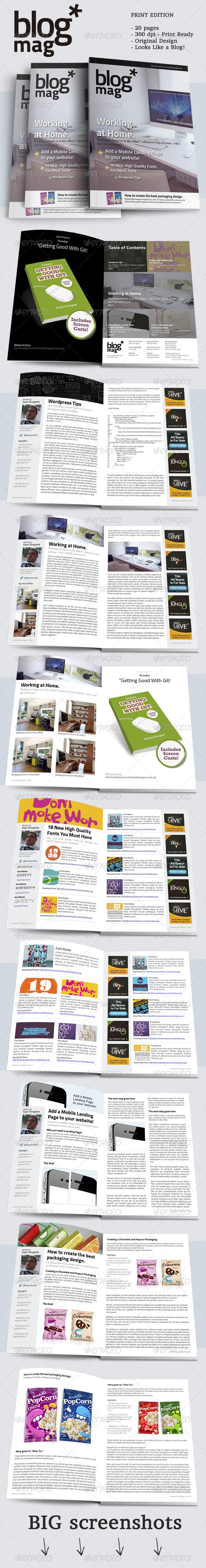 BlogMag Print Magazine that Looks Like a Blog  - Magazines Print Templates