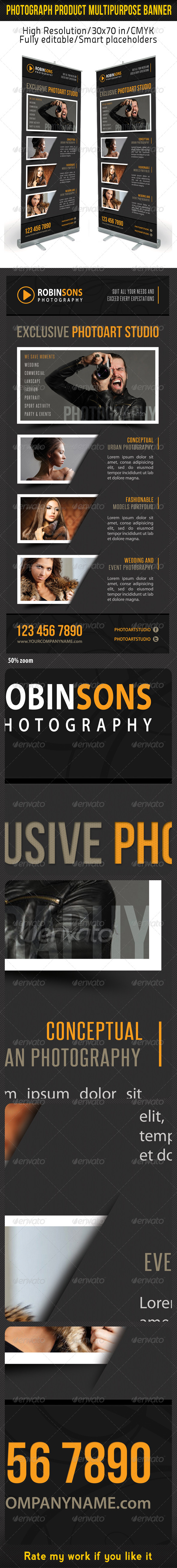 Photograph Product Multipurpose Banner 08 - Signage Print Templates