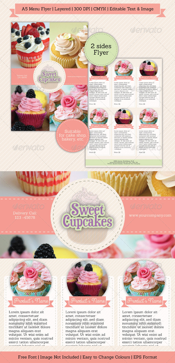 Sweet Simple Menu Flyer - Restaurant Flyers