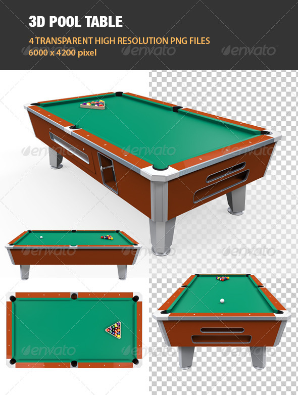 3D Pool Table - Objects 3D Renders