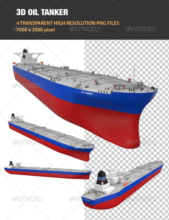 3D Oil Tanker - Objects 3D Renders