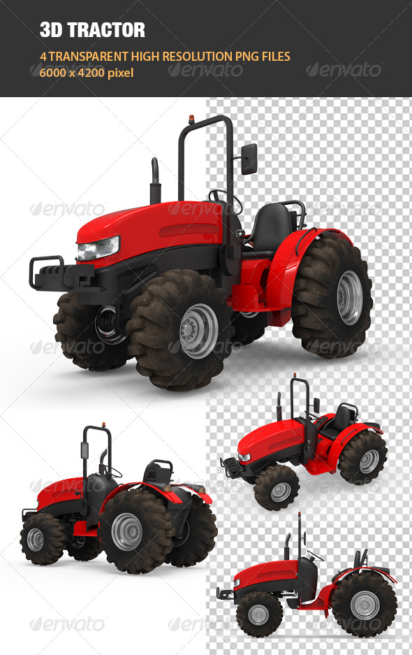 3D Tractor - Objects 3D Renders