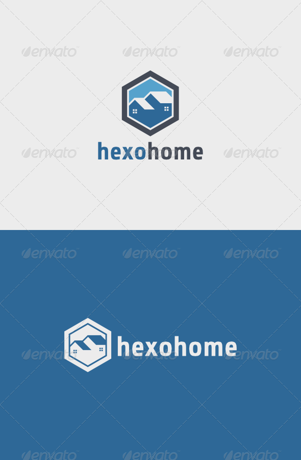 Hexo Home Logo - Buildings Logo Templates