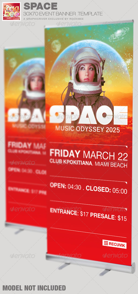 Space Event Banner Signage Template - Signage Print Templates