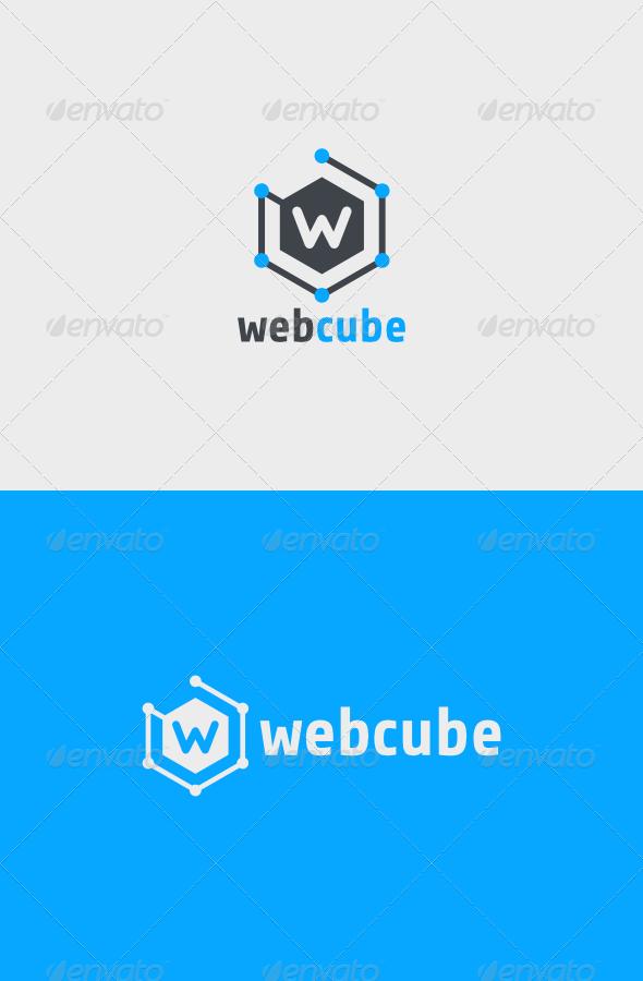 Web Cube Logo - Vector Abstract
