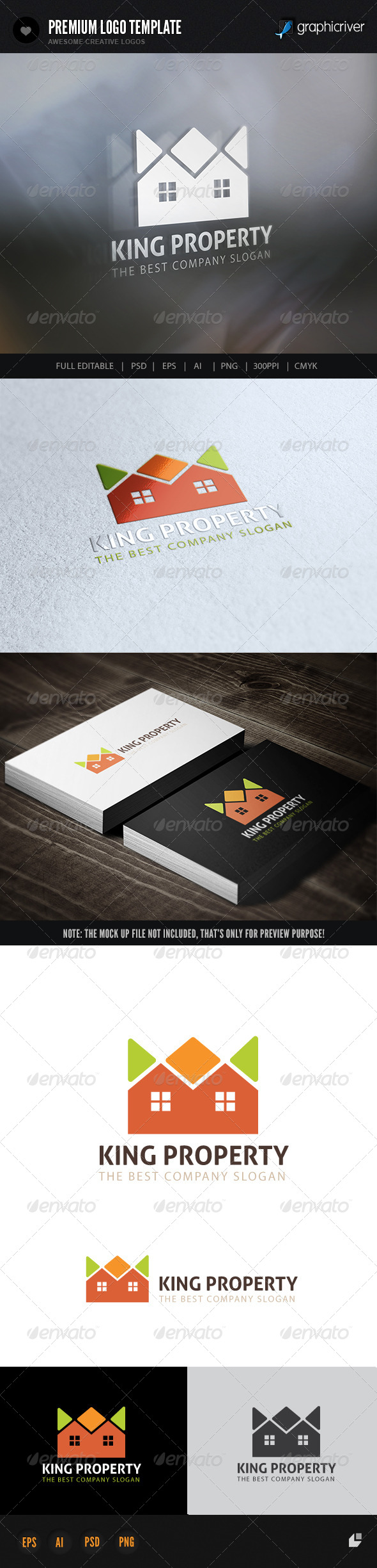 Property King - Buildings Logo Templates