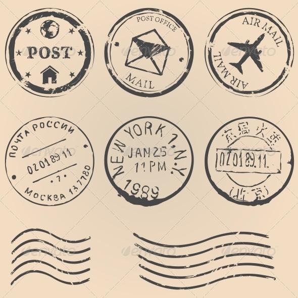 Postal Stamps - Decorative Symbols Decorative