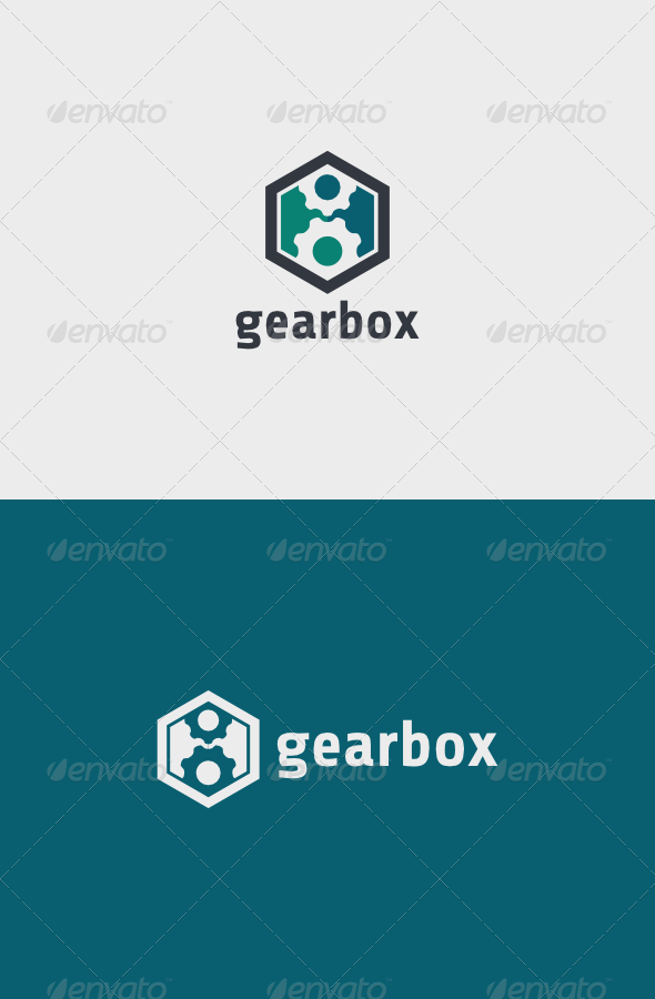 Gear Box Logo - Objects Logo Templates