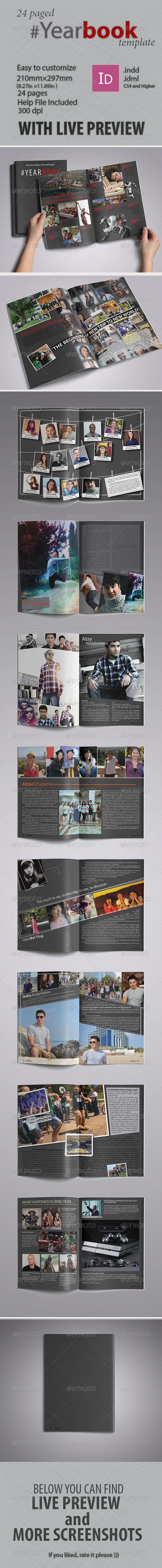 Yearbook Tempate - Print Templates