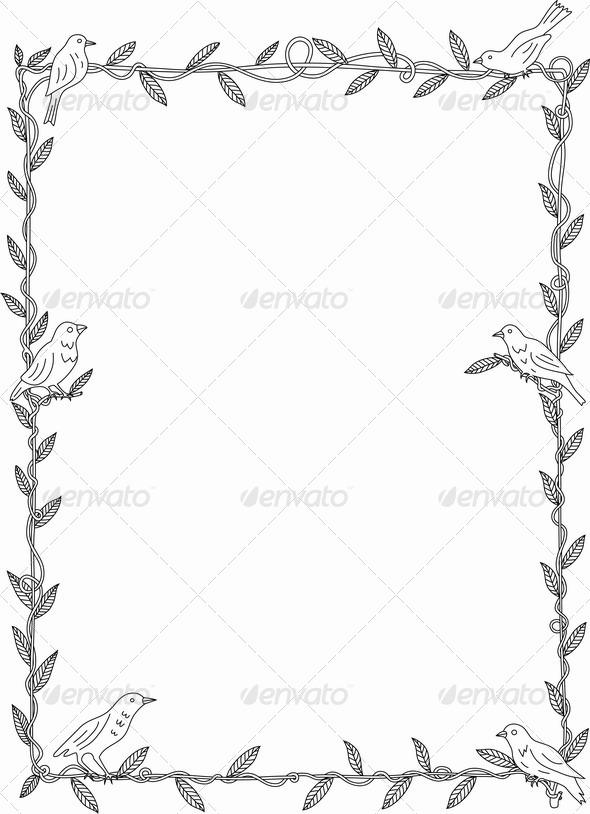 Bird Frame - Flourishes / Swirls Decorative