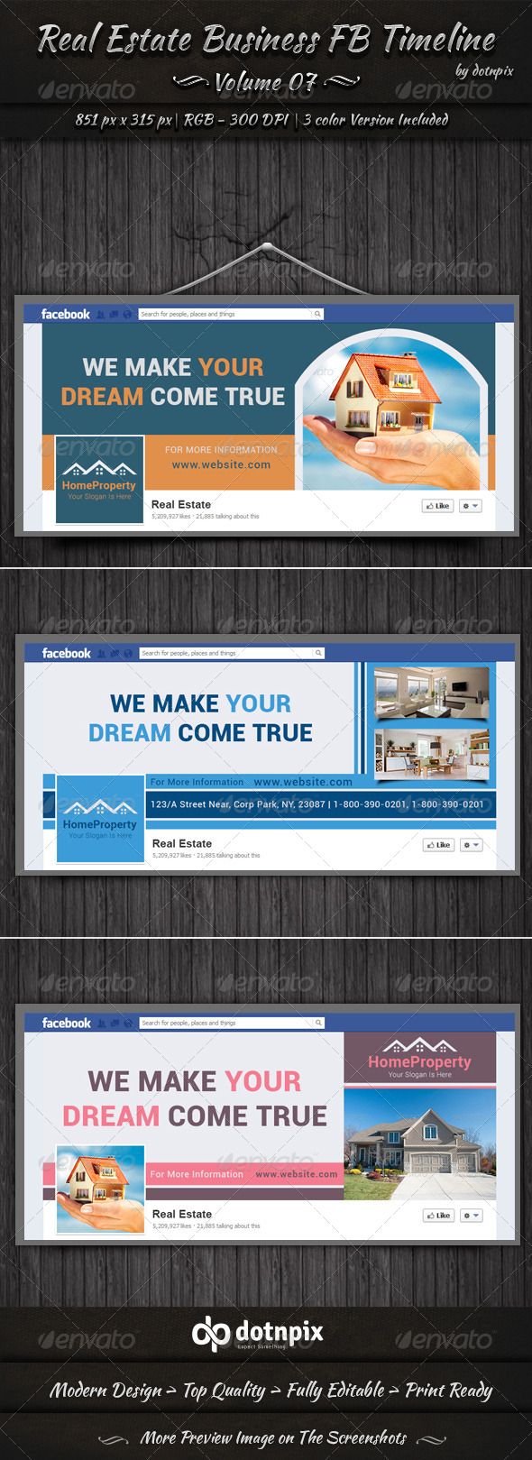 Real Estate Business FB Timeline | Volume 7 - Facebook Timeline Covers Social Media