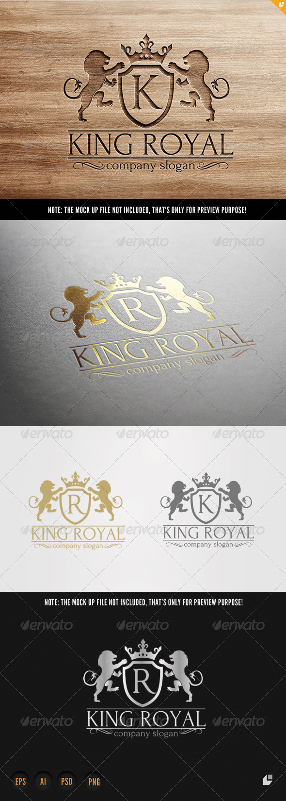King Royal Logo - Crests Logo Templates