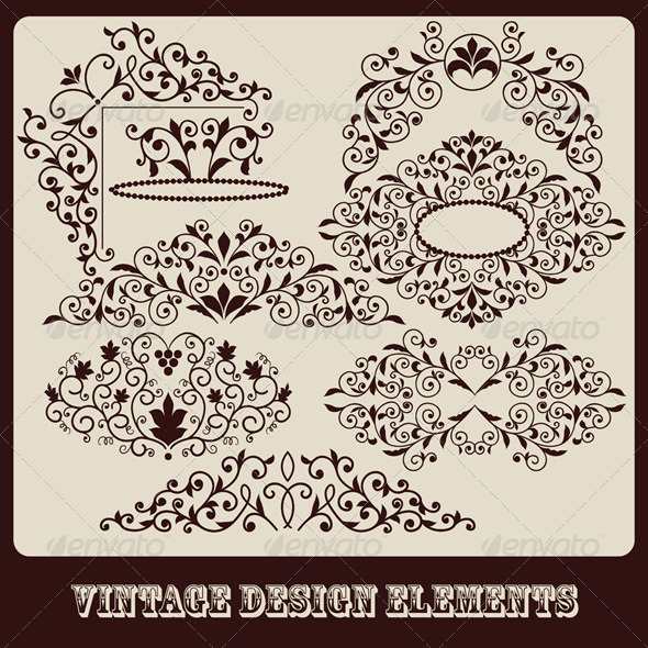 Floral Design Elements - Decorative Symbols Decorative