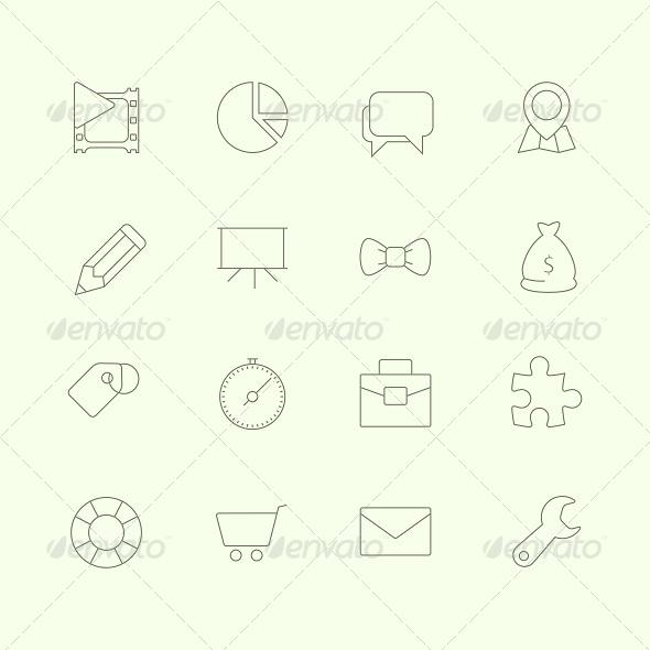 Thin SEO Icons Vol 2 - Technology Icons