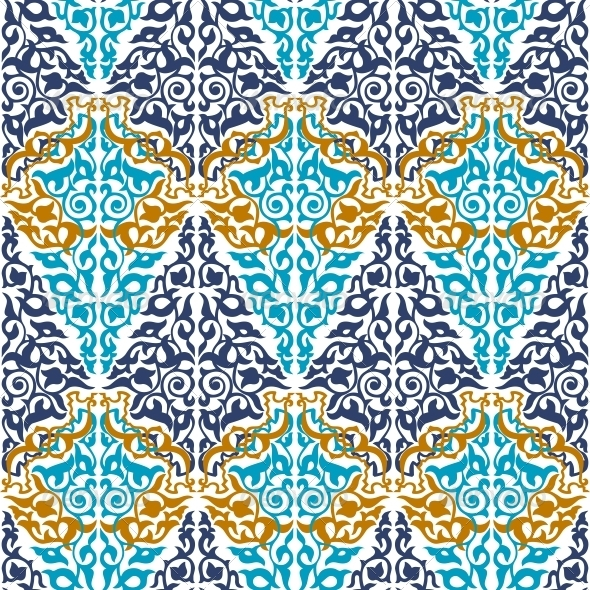 Seamless  in Mosaic Ethnic Style.  - Patterns Decorative