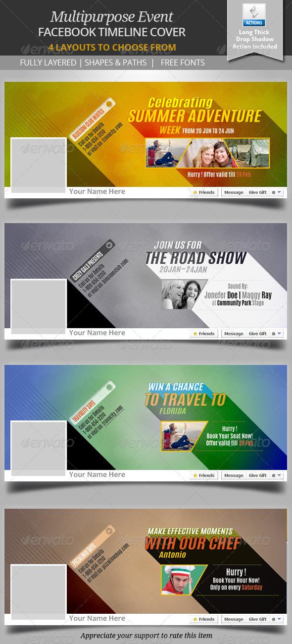 Multipurpose Event Facebook Timeline Cover - Facebook Timeline Covers Social Media