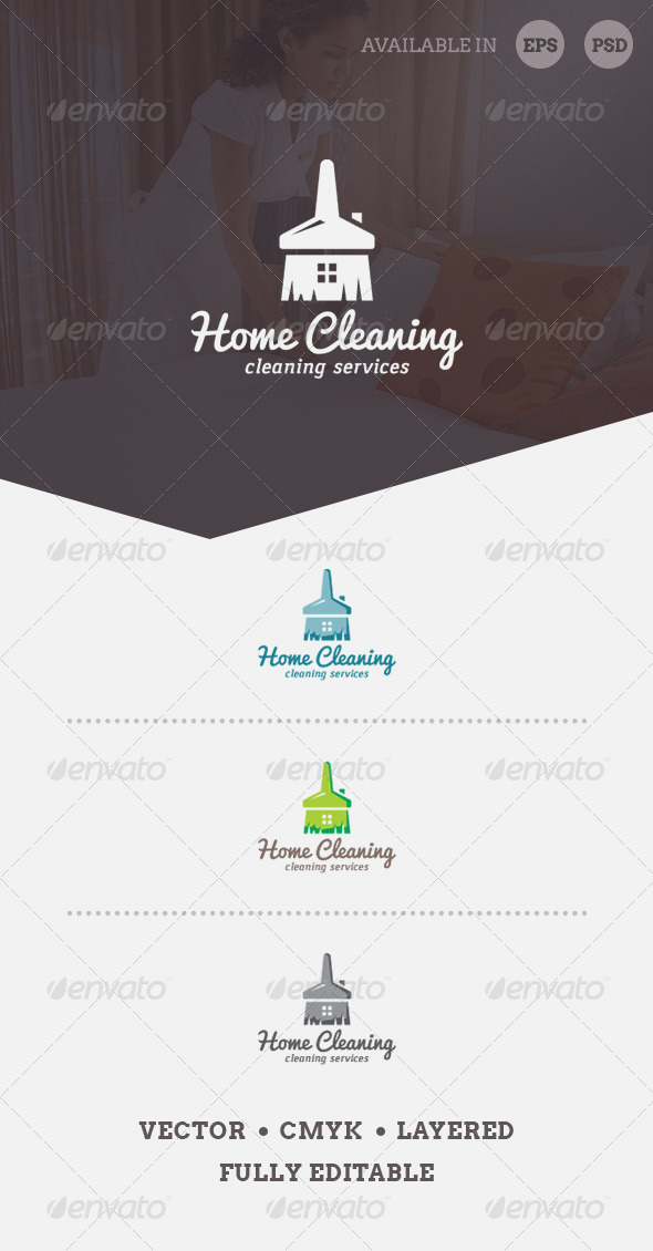 Home Cleaning Logo Template - Objects Logo Templates