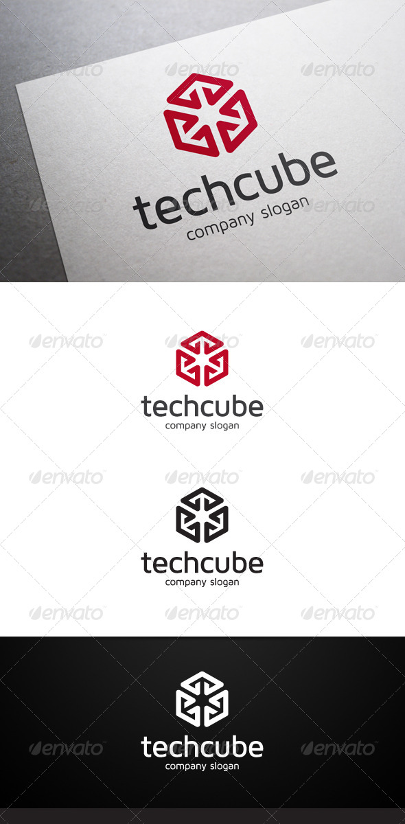 Tech Cube Logo - Abstract Logo Templates