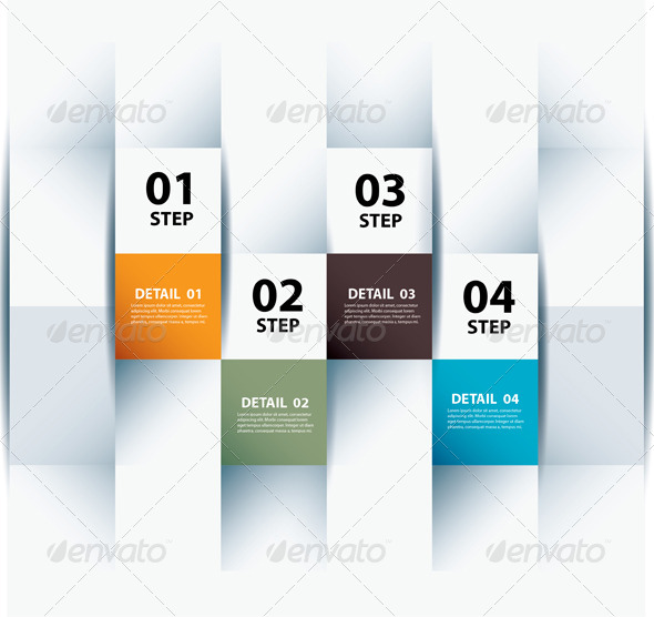 Infographic Step and Numbers Design Template - Infographics