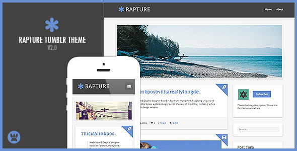 Free Download Rapture - A Responsive Tumblr Theme Nulled Latest Version