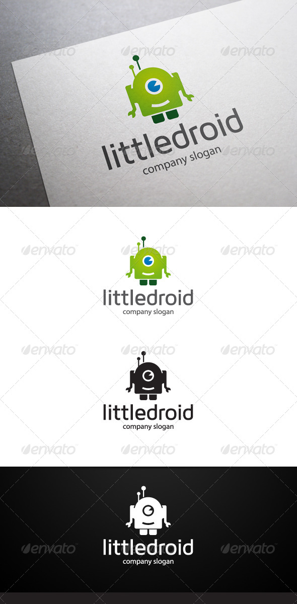 Little Droid Logo V2 - Objects Logo Templates