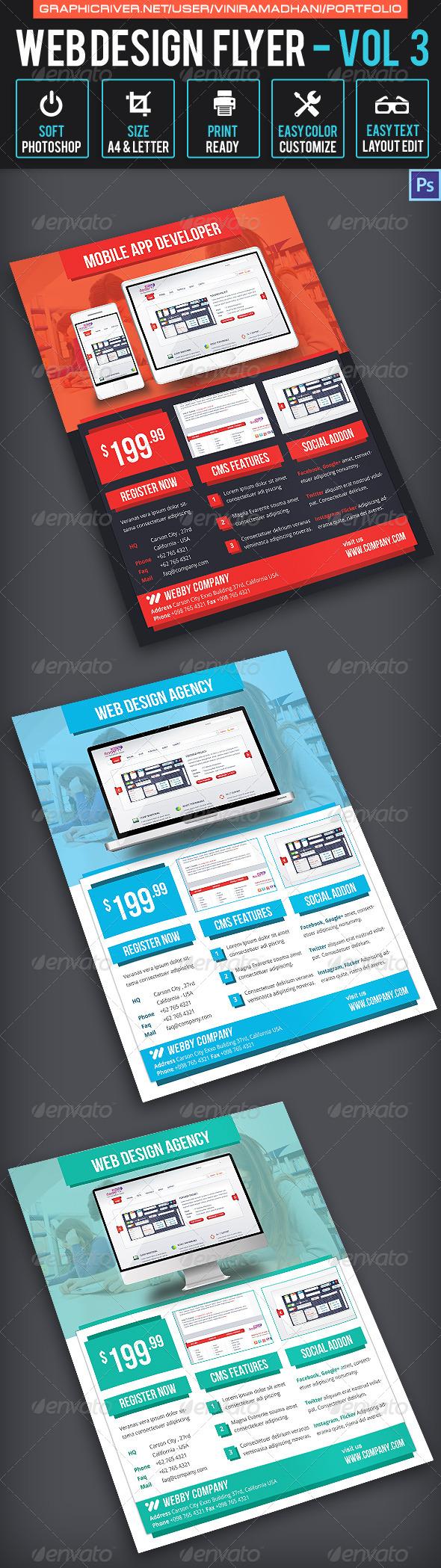 Web Design Flyer | Volume 3 - Corporate Flyers
