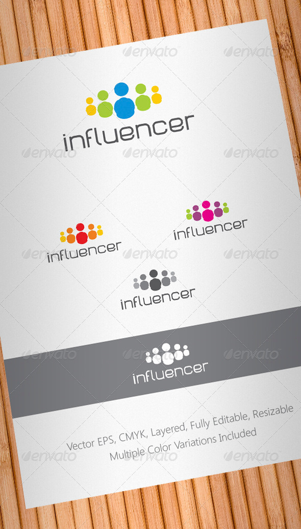 Social Media Influencer Logo Template - Humans Logo Templates