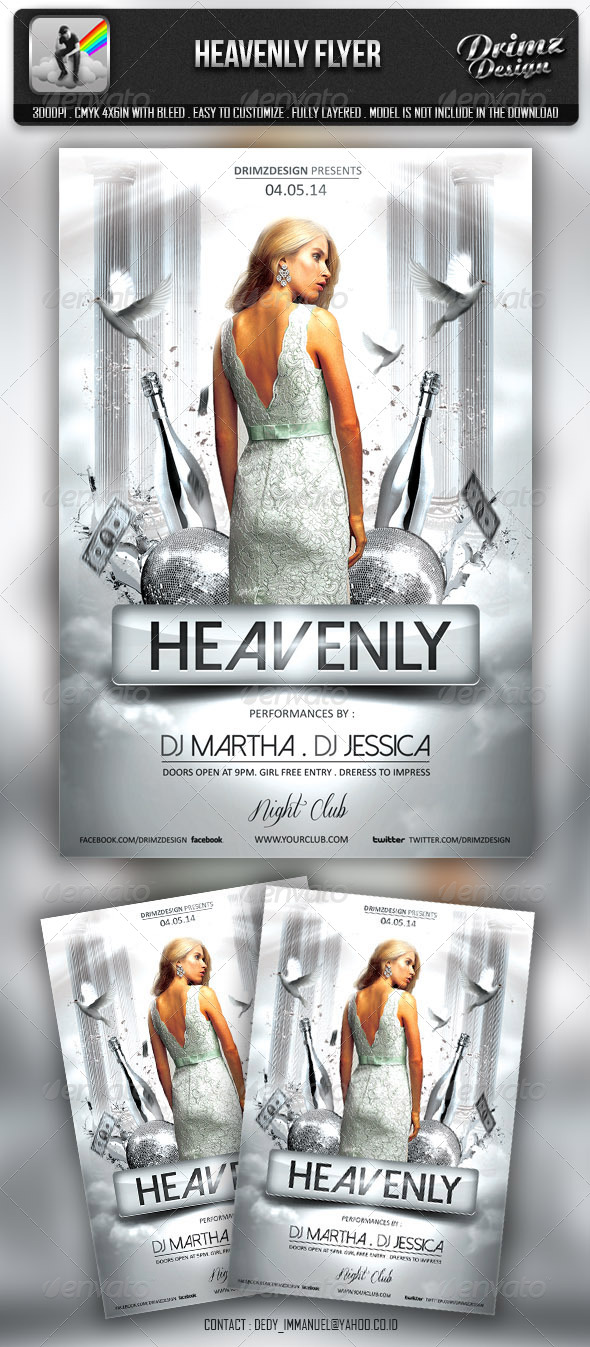 Heavenly Party Flyer - Events Flyers
