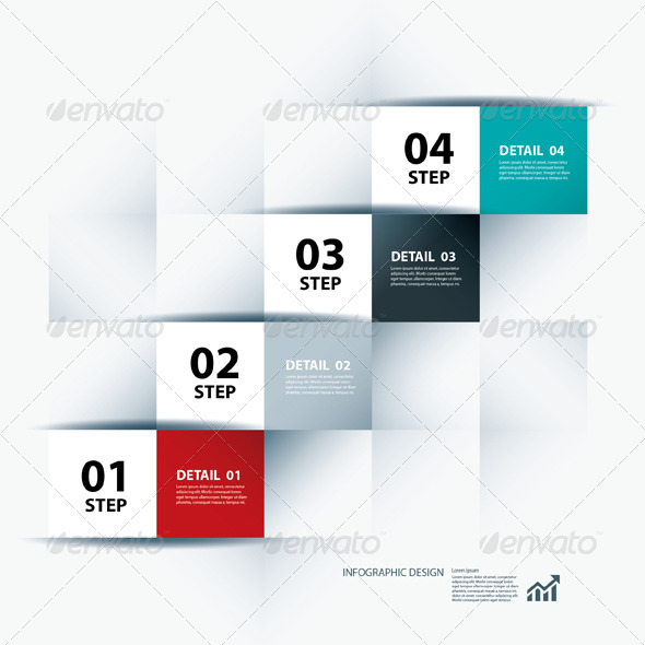 Infographic Business Step and Design Template - Infographics