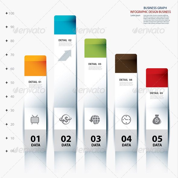 Vector Infographic Step Data and Design Template - Infographics