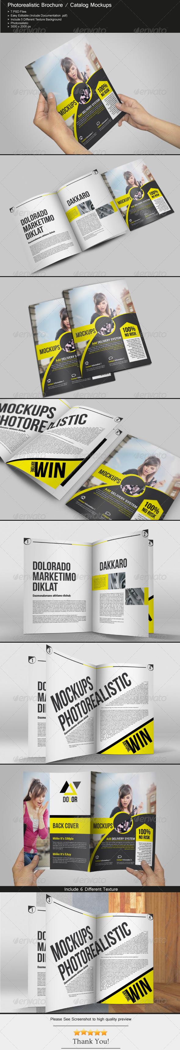 Brochure / Catalog Mockups - Brochures Print