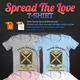 Spread The Love T-Shirt - GraphicRiver Item for Sale