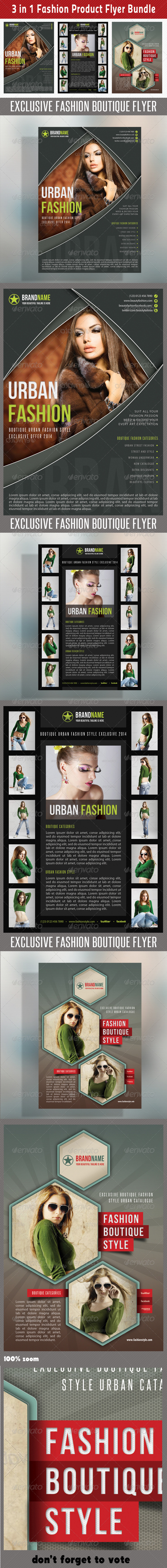 3 in 1 Fashion Product Flyer Bundle 12 - Commerce Flyers