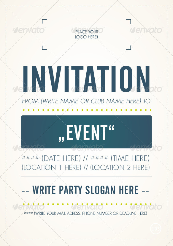 Invitation - Flyer Template By M103 | Graphicriver