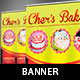 Bakery Cake Pop-Up Banner Template