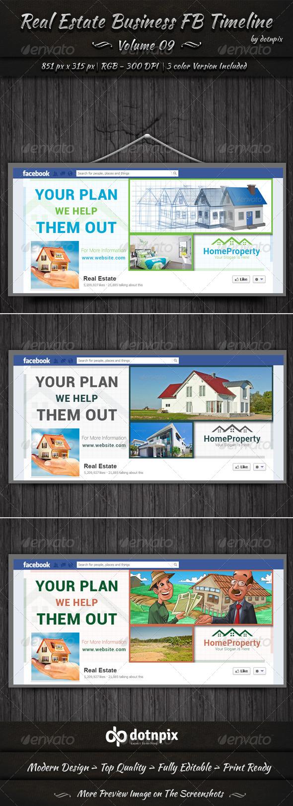 Real Estate Business FB Timeline | Volume 9 - Facebook Timeline Covers Social Media