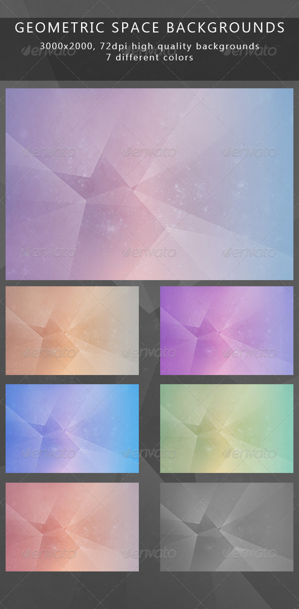Geometric space backgrounds - Abstract Backgrounds