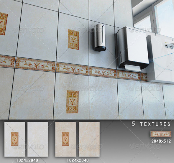 Professional Ceramic Tile Collection C051 - 3DOcean Item for Sale