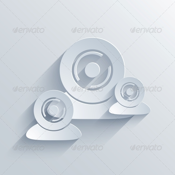 Vector Flat Modern Icon on Blue Background.EPS10 - Web Technology